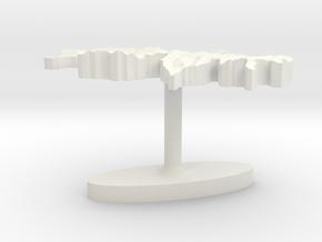 Switzerland Terrain Cufflink - Flat in White Natural Versatile Plastic