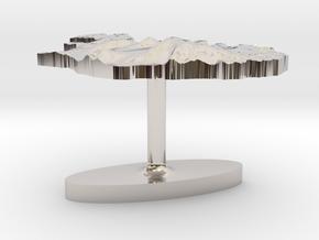 Iceland Terrain Cufflink - Flat in Platinum