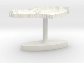 Ireland Terrain Cufflink - Flat in White Natural Versatile Plastic