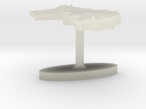 Guinea Terrain Cufflink - Flat in Transparent Acrylic
