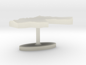 Jordan Terrain Cufflink - Flat in Transparent Acrylic