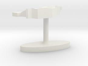 Liechtenstein Terrain Cufflink - Flat in White Natural Versatile Plastic