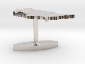 United States Terrain Cufflink - Flat in Platinum