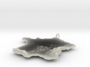 France Terrain Silver Pendant in Polished Silver