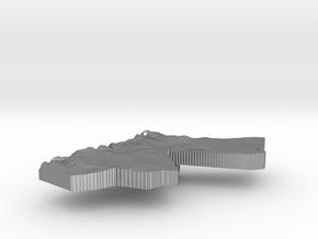 Jordan Terrain Silver Pendant in Natural Silver