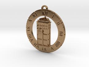 TARDIS (Half) - Pendant in Natural Brass