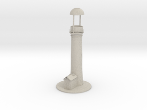 Lighthouse thealight candle holder/Vuurtoren in Natural Sandstone