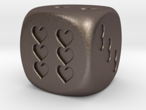 Dice Hearts in Stainless Steel