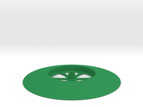 Base Hole - GREEN in Green Processed Versatile Plastic