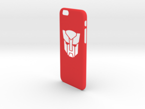 Iphone 6 case transformers in Red Strong & Flexible Polished