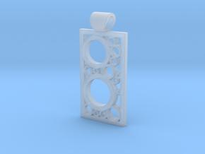 Encased Rings Pendant in Smooth Fine Detail Plastic
