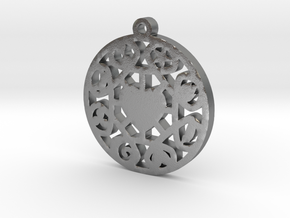 The Wheel of Time Pendant - By Celeste in Natural Silver