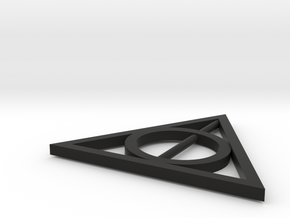 Deathly Hallows in Black Natural Versatile Plastic