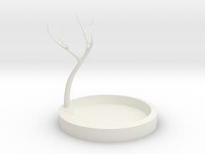 Jewelry Tree in White Natural Versatile Plastic