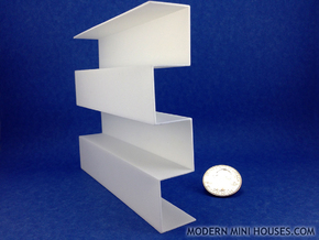Zipper Room Divider 1:12 scale Bookshelf in White Processed Versatile Plastic