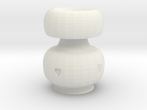 Heart Pot in White Natural Versatile Plastic