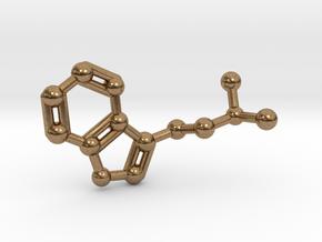 DMT (N,N-Dimethyltryptamine) Keychain Necklace in Natural Brass