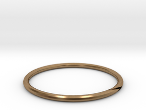 RING23MK1SIZER in Natural Brass