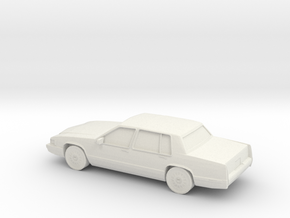 1/87 1992 Cadillac DeVille in White Natural Versatile Plastic