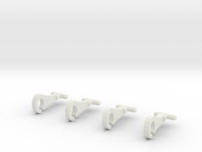 Thomas train hooks (set of 4) in White Natural Versatile Plastic