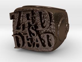 Zed is Dead Ring in Polished Bronze Steel