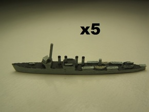 USS Ward (Wickes DD) 1:1800 x5 in White Natural Versatile Plastic