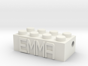 EMMA in White Natural Versatile Plastic