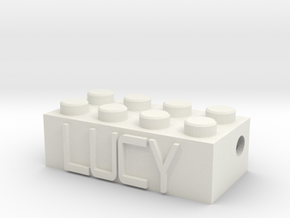LUCY in White Natural Versatile Plastic