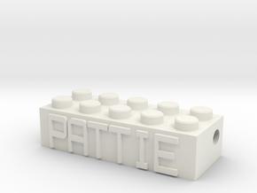 PATTIE in White Natural Versatile Plastic