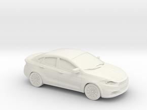 1/87 2013 Dodge Dart in White Natural Versatile Plastic
