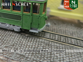 SET 2x Straßenwalzen Schmalspur (Nm 1:160) in Smooth Fine Detail Plastic