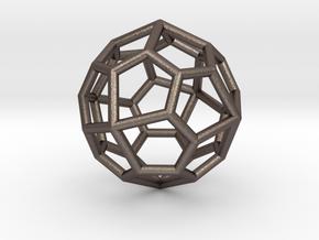 Pentagonal Icositetrahedron Pendant in Polished Bronzed Silver Steel