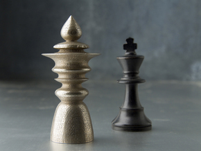 Avatar King in Polished Bronzed Silver Steel