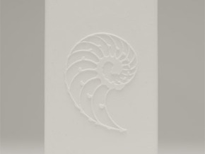 Nautilus Universal Charger Embossed 4400mah with U in White Natural Versatile Plastic