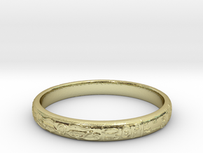 Ra ring(size = USA 5.5,Japan 10, English K) in 18k Gold