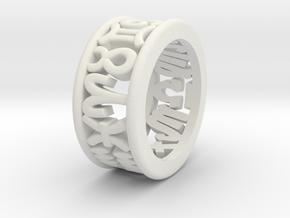 Constellation symbol ring 3.5 in White Natural Versatile Plastic