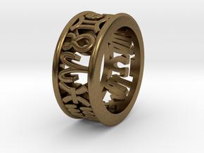 Constellation symbol ring 5 in Natural Bronze