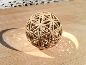 3D 100mm Orb of Life (3D Flower of Life)  in White Natural Versatile Plastic