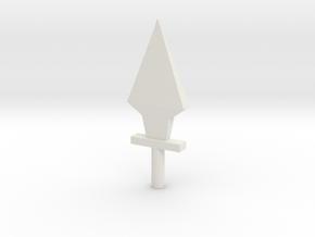 5mm Dagger in White Natural Versatile Plastic