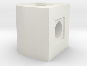 180 Deg Rotation Block in White Natural Versatile Plastic
