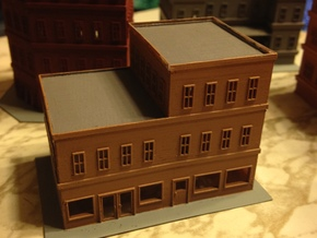 City Corner Building left side 2  in Smooth Fine Detail Plastic