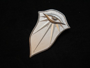 Pendant of the Seeker in Natural Silver