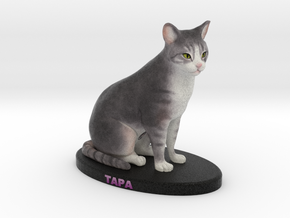 Custom Cat Figurine - Tapa in Full Color Sandstone