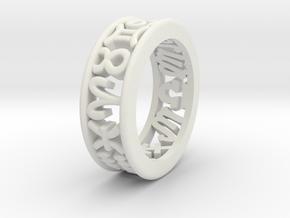 Constellation symbol ring 10-10.5 in White Natural Versatile Plastic