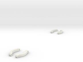 Quelenker Vorne ObenSTL in White Natural Versatile Plastic