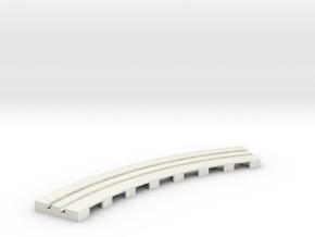 P-65stp-curve-tram-long-145r-100-pl-1a in White Natural Versatile Plastic