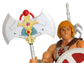200x He-Man Battle-Axe in White Processed Versatile Plastic