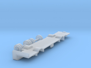 N scale Bus Dummy Chassis in Smooth Fine Detail Plastic