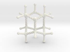 Iceane Pendant in White Natural Versatile Plastic