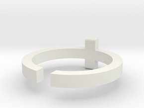 (USA) 11 Cross - Multiple Sizes in White Natural Versatile Plastic